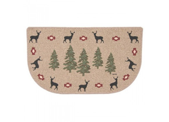 Fireside America Napa Forge Deer With Trees Berber Rug
