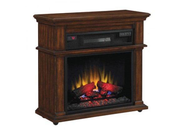 Fireside America Classic Flame 23-Inch Infrared Rolling Mantel - With Remote