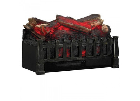 Fireside America Classic Flame Electric Log Basket for Existing Fireplaces - Black