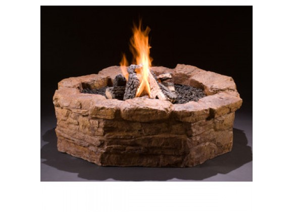 Fireside America Hargrove Outdoor Gas Fire Pit Kit - Sandstone
