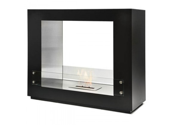Fireside America Sek Free Standing See Thru Fireplace With Glass