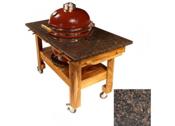 Fireside America Acacia Cart with Red Midnight Granite