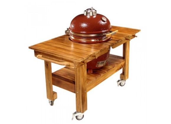 Fireside America Saffire Acacia Cart with Wood Top