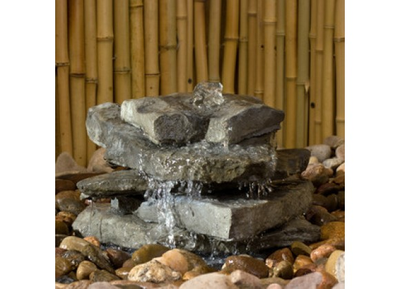 Fireside America Hargrove Outdoor Tower Falls Fountain Kit - Slate