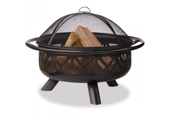Fireside America Oil Rubbed Bronze Outdoor Fire Bowl - Geometric Design
