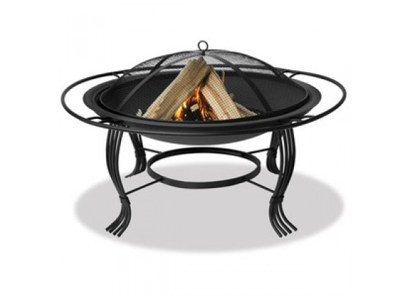 Fireside America Black Fire Pit With Outer Ring