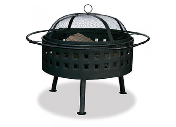 Fireside America Aged Bronze Fire Bowl with Square Cut Out Design