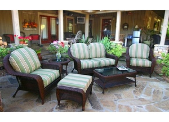 Tortuga Outdoor Sea Pines 6 Piece Wicker Deep Seating Loveseat Set