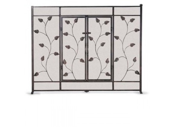 Fireside America Napa Forge Flat Leaf & Vine Screen with Doors