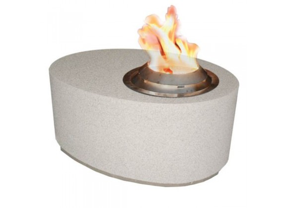 Fireside America Oval  Gas Fire Pit With Bio Fuel Burner