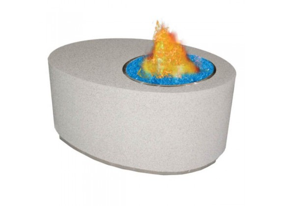 Fireside America Oval Gas Fire Pit For Fire Glass Gems - NA