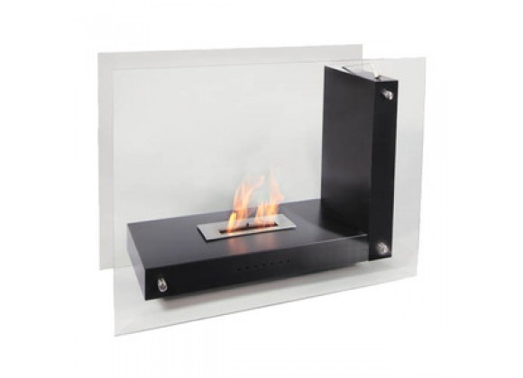 Fireside America Allure Glass Free Standing See Thru Fireplace