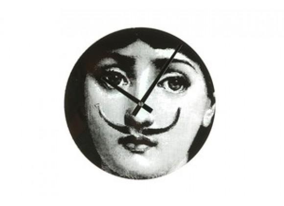 Stilnovo Mid Century Girl Moustache Clock