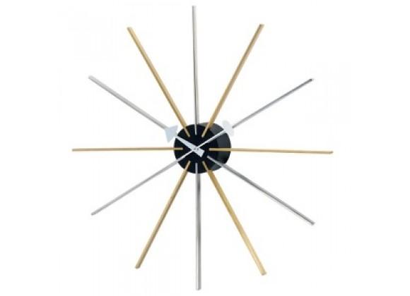 Stilnovo George Nelson Star Clock - Gold