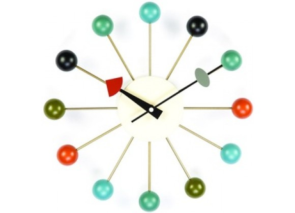 Stilnovo George Nelson Ball Clock Multi-Colored