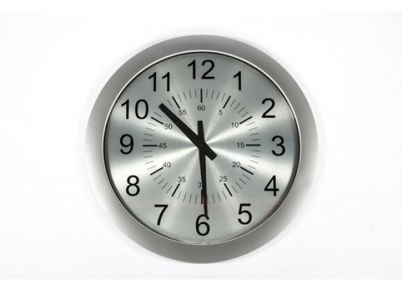 Stilnovo George Nelson Verichron Slim Clock - Silver