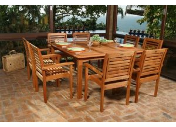 International Home Miami Amazonia Nine Piece Milano Square Set