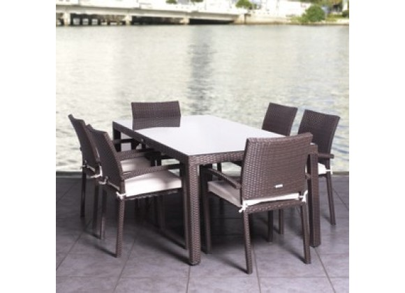 International Home Miami Atlantic Liberty Seven Piece Dining Set