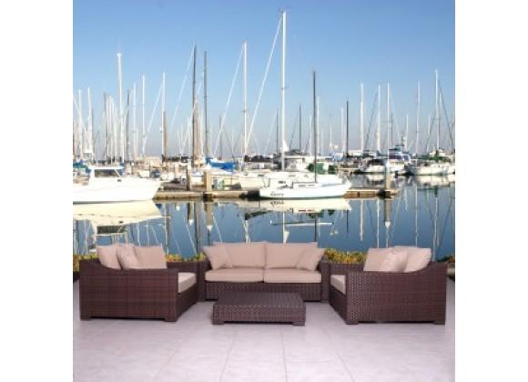 International Home Miami Atlantic Oxford Deep Deluxe Seating Set