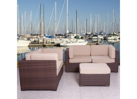 International Home Miami Atlantic Nice Sectional Deluxe Six Piece Set