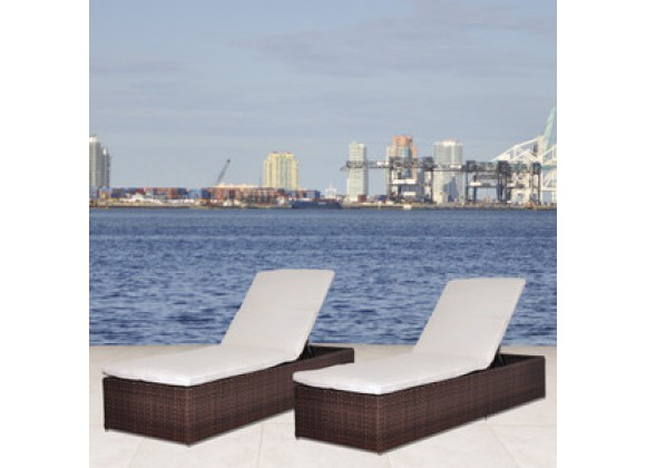 International Home Miami Atlantic Oxford Lounger Set