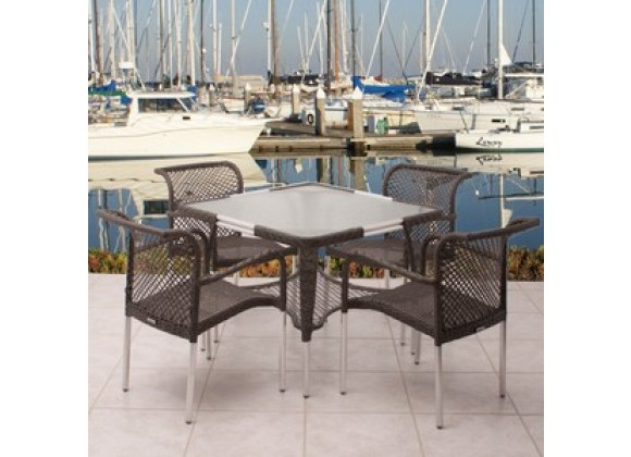 International Home Miami Atlantic Soho Five Piece Dining Set