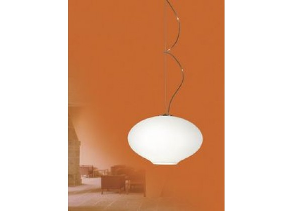 Illuminating Experiences Meltemi Series Opal Glass Oval Semi-Sphere Pendant - M10244