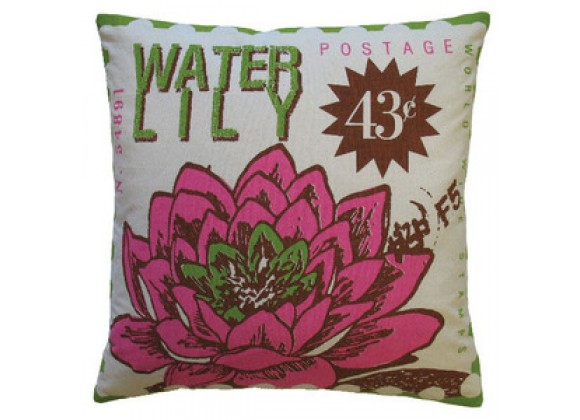 Koko Company Postage Waterlily Pillow