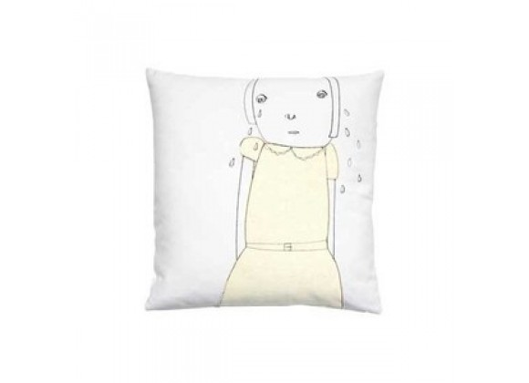 k studio Crying Pillow - White