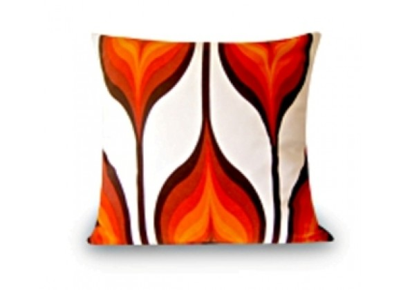 Lebello Square Pillow - Fire