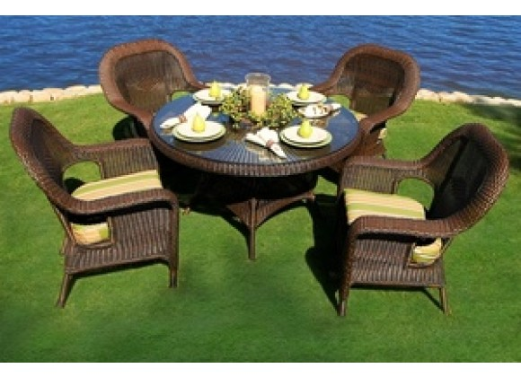 Tortuga Outdoor Sea Pines 5 Piece Dining Set