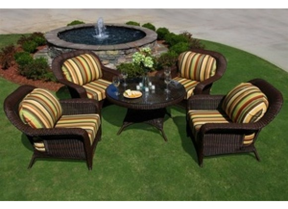 Tortuga Outdoor Sea Pines 5 Piece Conversation Table Set