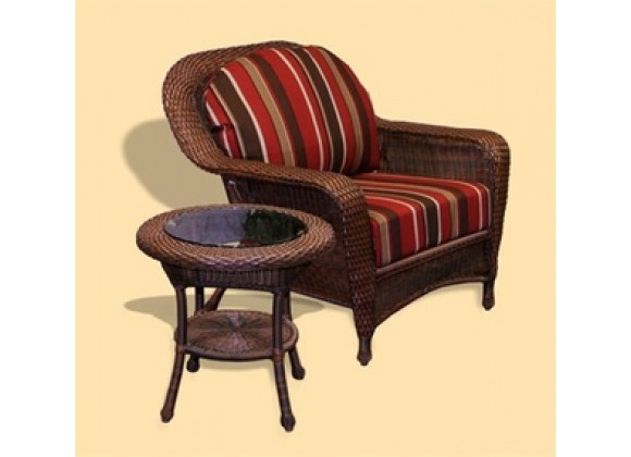 Tortuga Outdoor Sea Pines Club Chair and End Table