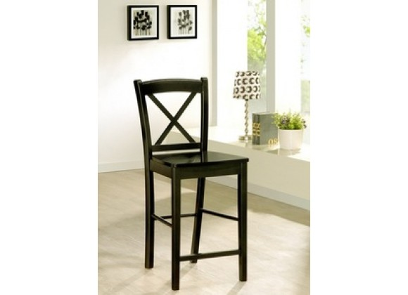 Linon Black X Back Counter Height Stool