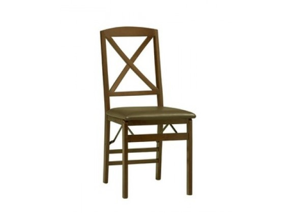 Linon Triena X Back Folding Chair