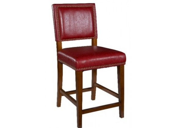 Linon Brook Red Counter Stool