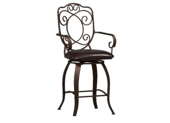 Linon Crested Back Counter Stool