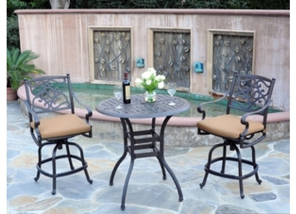 "Meadow Decor Kingston 36"" Bar Table 3 Piece Set"