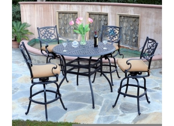 "Meadow Decor Kingston 48"" Bar Table 5 Piece Set"