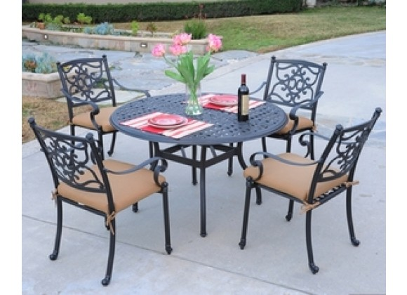 Meadow decor kingson 48 dining table 5 piece set home for Table decor international inc