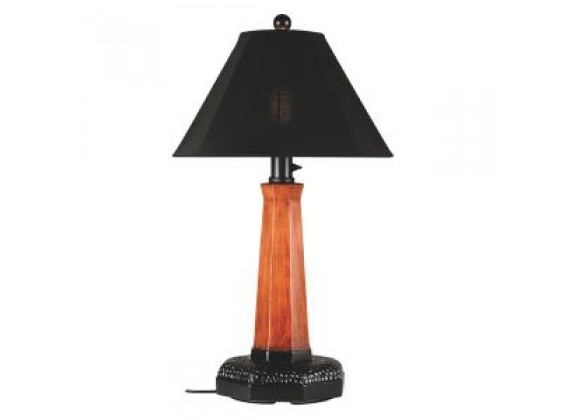 "Patio Concepts Manhattan 35"" Outdoor Table Lamp with Black Sunbrella Shade"