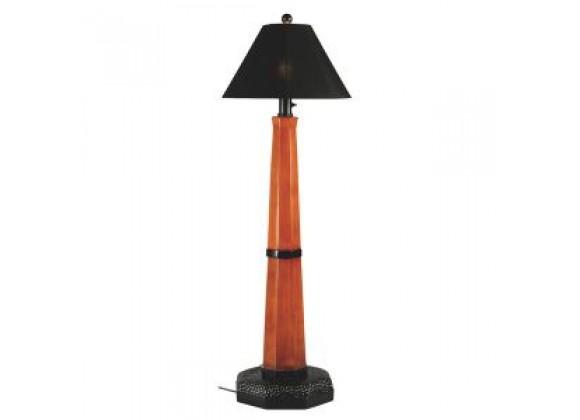 "Patio Concepts Manhattan 60"" Outdoor Floor Lamp with Black Sunbrella Shade"