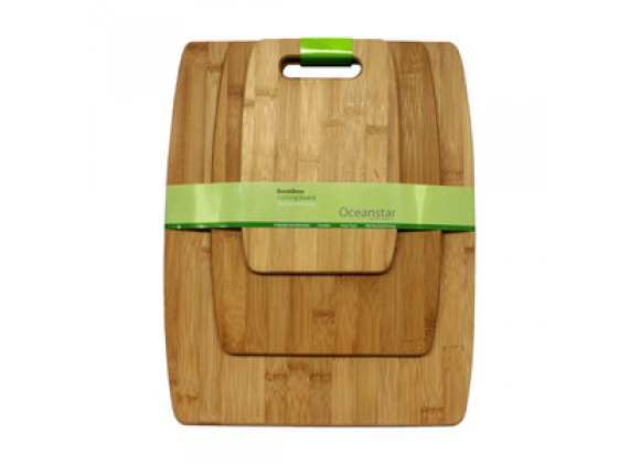 Oceanstar 3-Piece Bamboo Cutting Board Set
