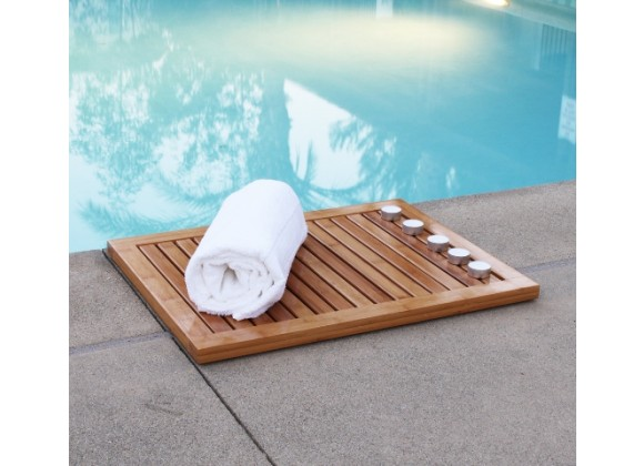 Oceanstar Bamboo Floor and Shower Mat - 3