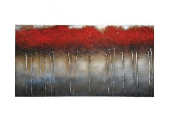 Ren-Wil Crimson Forest Rectangular Painting