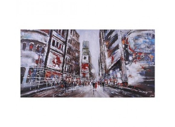 Evening in Times Square Rectangular Painting
