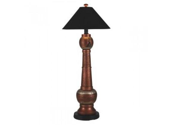 """Patio Concepts 60"""" Phoenix Outdoor Copper Floor Lamp with Black Sunbrella Shade"""