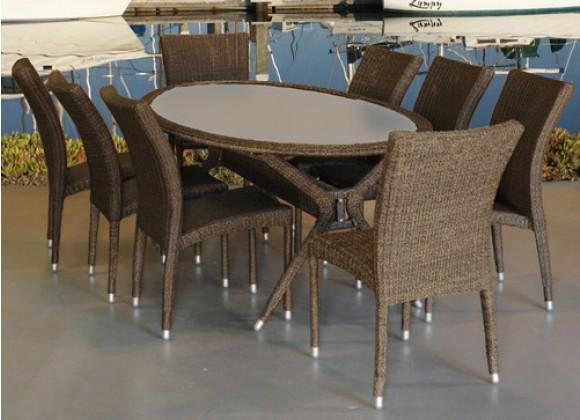 International Home Miami Atlantic Bari 9-pc Dining Set