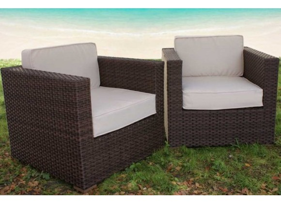 International Home Miami Atlantic Bellagio Armchair Set of 2