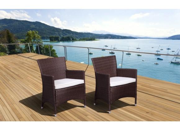 International Home Miami Atlantic Liberty Deluxe Patio Wicker Armchair Set of 2